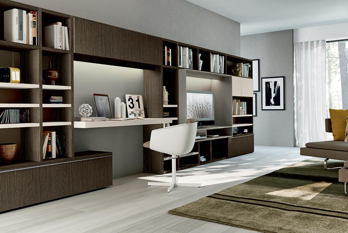Mobili di design in stile moderno villanova home for Scrivania di design a parete